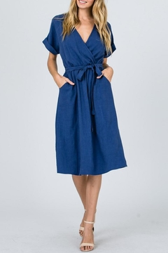Ces Femme Blue Wrap Midi-Dress - Product List Image