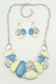 Blue Yellow Necklace Set - Product Mini Image