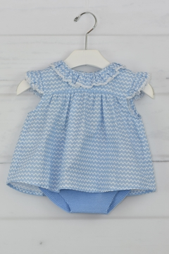 cesar blanco Blue Zig-Zag Outfit - Product List Image