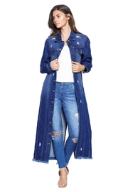 Blue Age Denim Longjackets Distressed - Front cropped