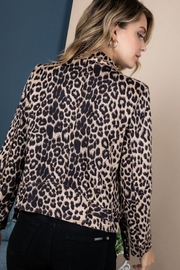Blue B Animal Print Moto Jacket - Front full body