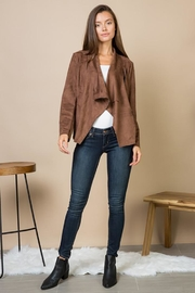 Blue B Asymmetrical Lapel Suede-Jacket - Product Mini Image