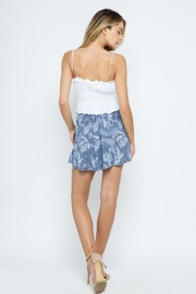Blue B Boho Front Tie Flare Shorts - Side cropped