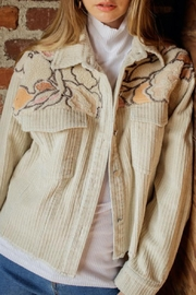 Blue B Embroidered Corduroy Jacket - Front cropped