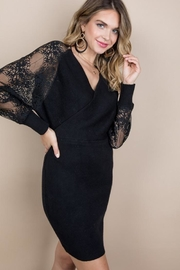 Blue B Lace Sleeve Wrap Dress - Other