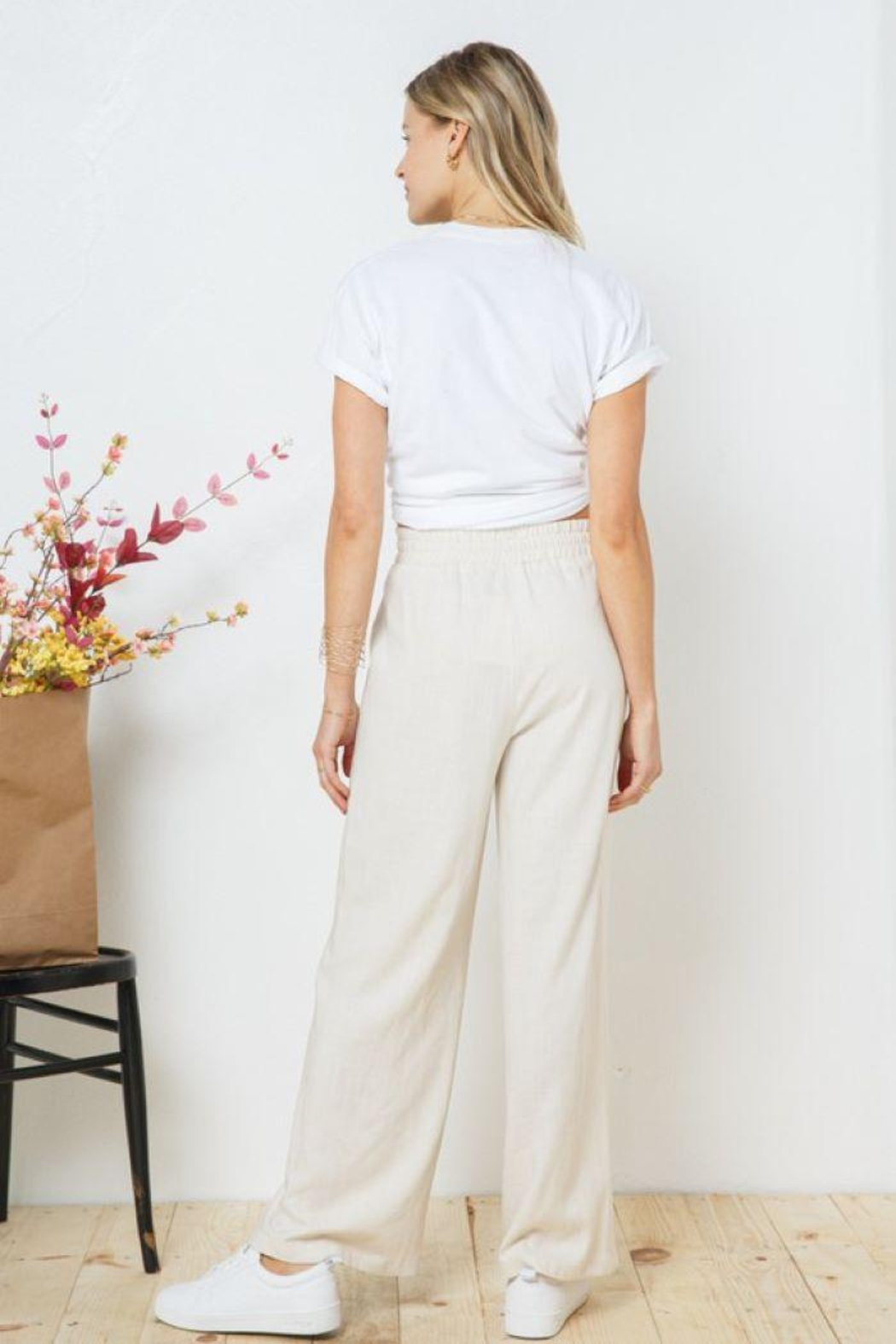Blue B Palazzo Long Wide Pants - Front Full Image