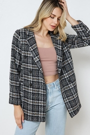 Blue B Plaid Double Jacket With Full Lining - Other