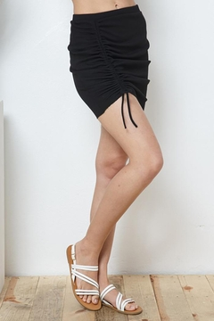 Blue B Ribbed Ruched Mini Skirt - Product List Image