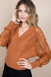 Blue B Rust Sweater Top - Front cropped