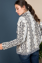 Blue B Snake Print Sweater Jacket - Other