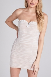 blue blush Baecation Ruched Mini - Front cropped