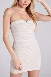 blue blush Baecation Ruched Mini - Front full body