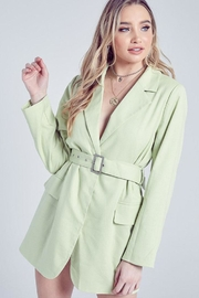 blue blush Belted Blazer Dress - Product Mini Image