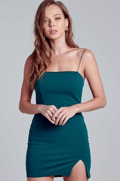 blue blush Bodycon Slit Dress - Product List Image