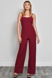 blue blush Bow Front Jumpsuit - Front cropped