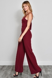 blue blush Bow Front Jumpsuit - Front full body