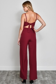 blue blush Bow Front Jumpsuit - Side cropped