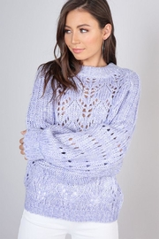 blue blush Bubble Sleeve Sweater - Product Mini Image