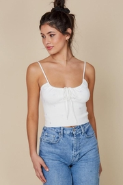 blue blush Cami Crop Top - Front full body