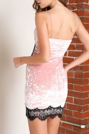 blue blush Pink Lace Slip Dress - Front full body