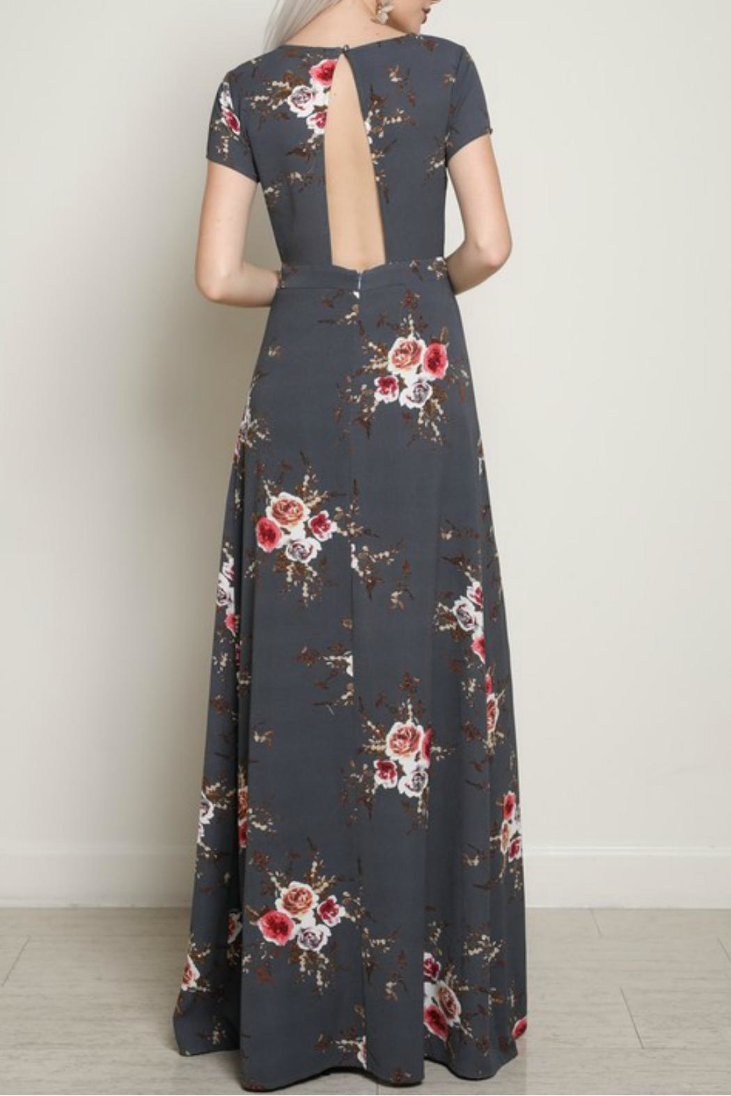 blue blush Cut-Out Maxi Dress - Back Cropped Image