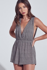 blue blush Dark Checkered Romper - Product Mini Image