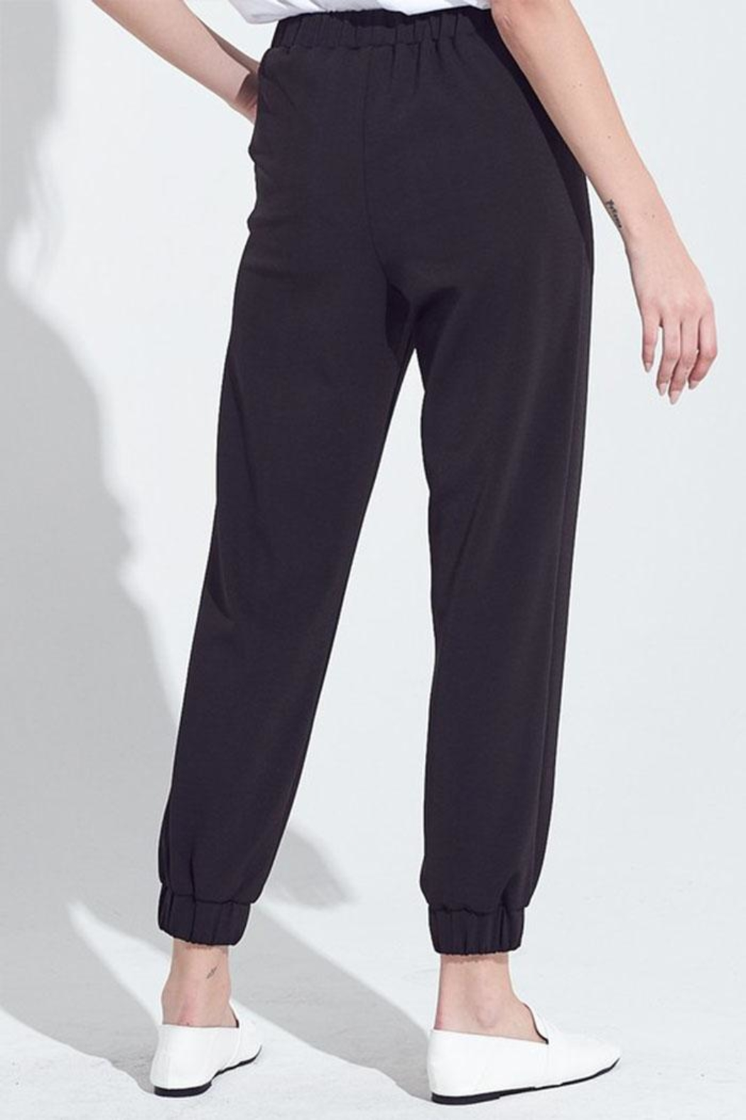 blue blush Elastic Waist Joggers - Side Cropped Image