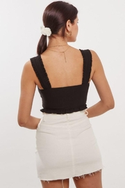 blue blush Front Lace Up Detail Crop Top - Back cropped