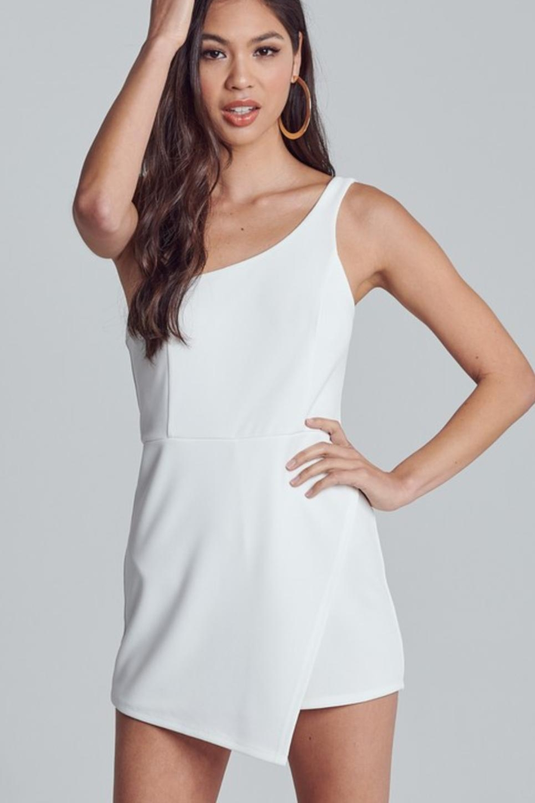 blue blush Ivory Beamin' Romper - Main Image