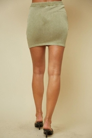 blue blush Knitted Ribbed Mini Skirt - Side cropped