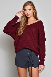 blue blush Knot Back Sweater - Front full body