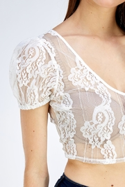 blue blush Lace Crop Top - Side cropped