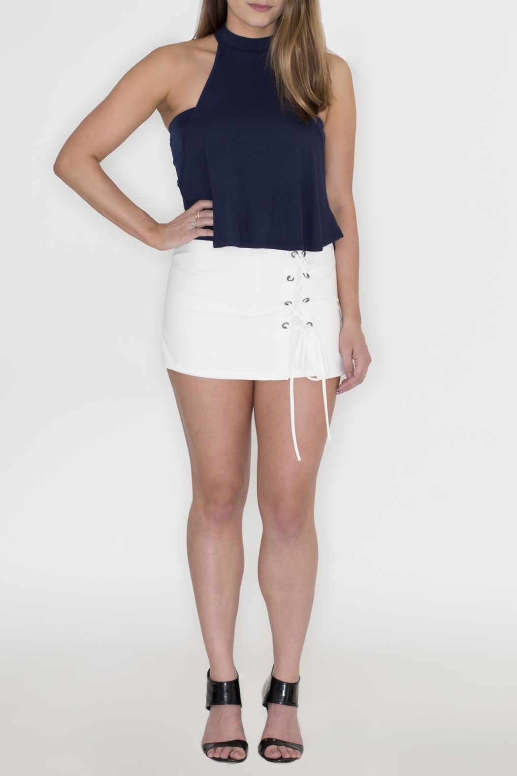 cc830e1410db0 blue blush Lace Up Skort from Philadelphia by May 23 — Shoptiques