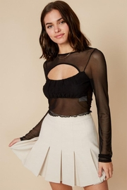 blue blush Mesh Crop Top - Product Mini Image