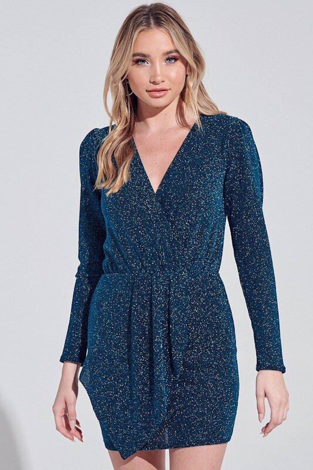 blue blush Night's Still Young Dress - Front Cropped Image