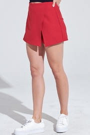 blue blush Notch Skort - Front cropped