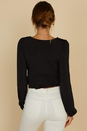 blue blush O-Ring Crop Blouse - Other