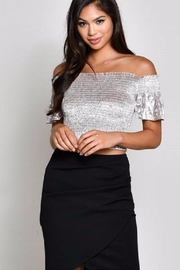 blue blush Adeline Crop Top - Product Mini Image