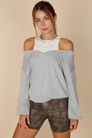 blue blush Off-Shoulder Sweater Tank - Product Mini Image