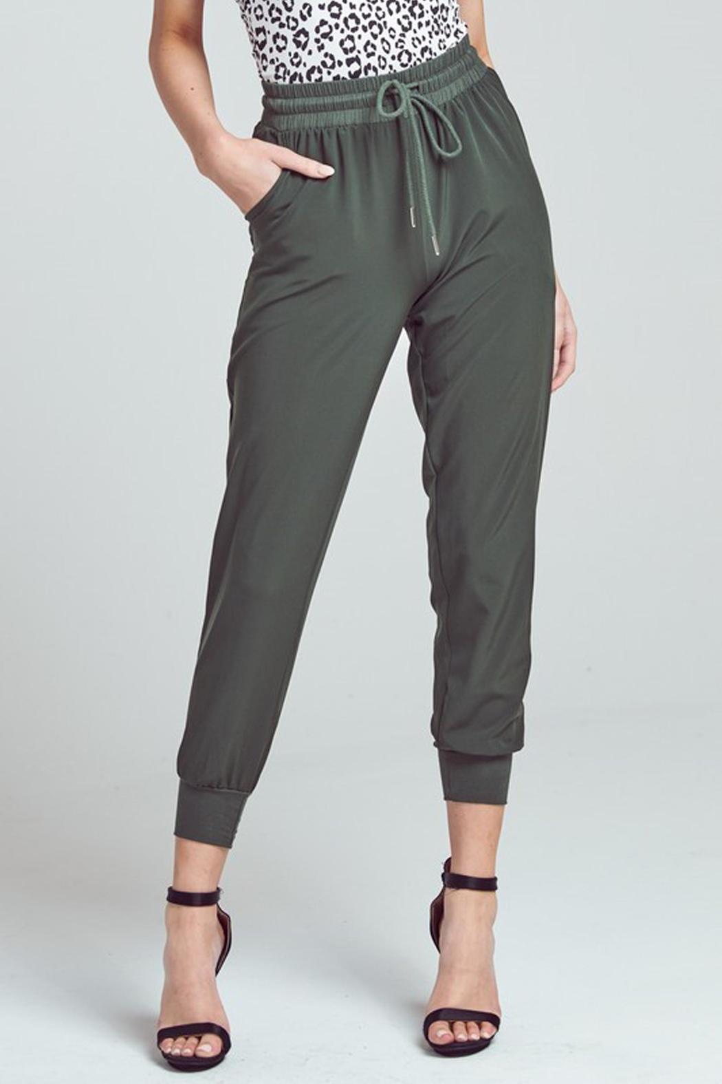 blue blush Olivia High-Waist Jogger - Front Cropped Image