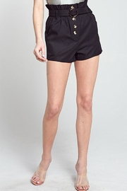 blue blush Paperbag Button Short - Front cropped