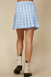 blue blush Plaid Tennis Skirt - Side cropped