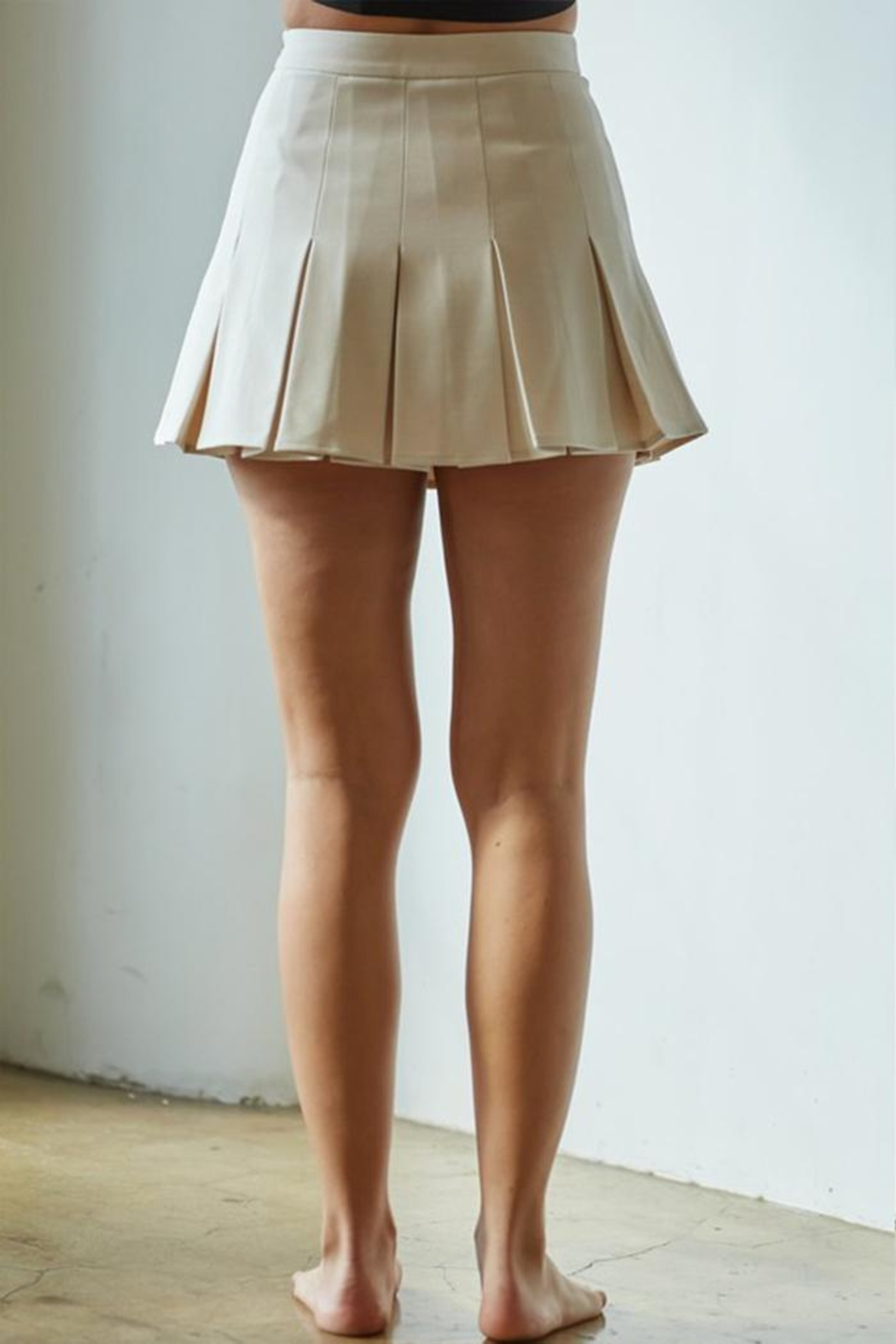 blue blush Pleated Tennis Skirt - Side Cropped Image