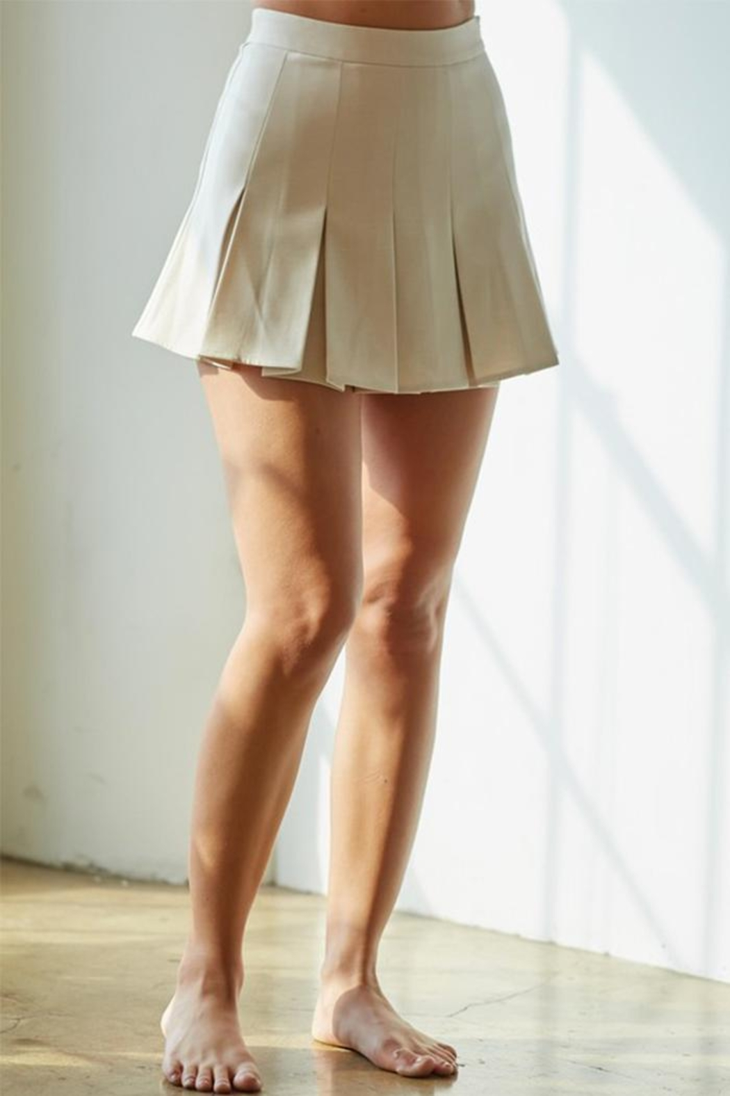 blue blush Pleated Tennis Skirt - Main Image