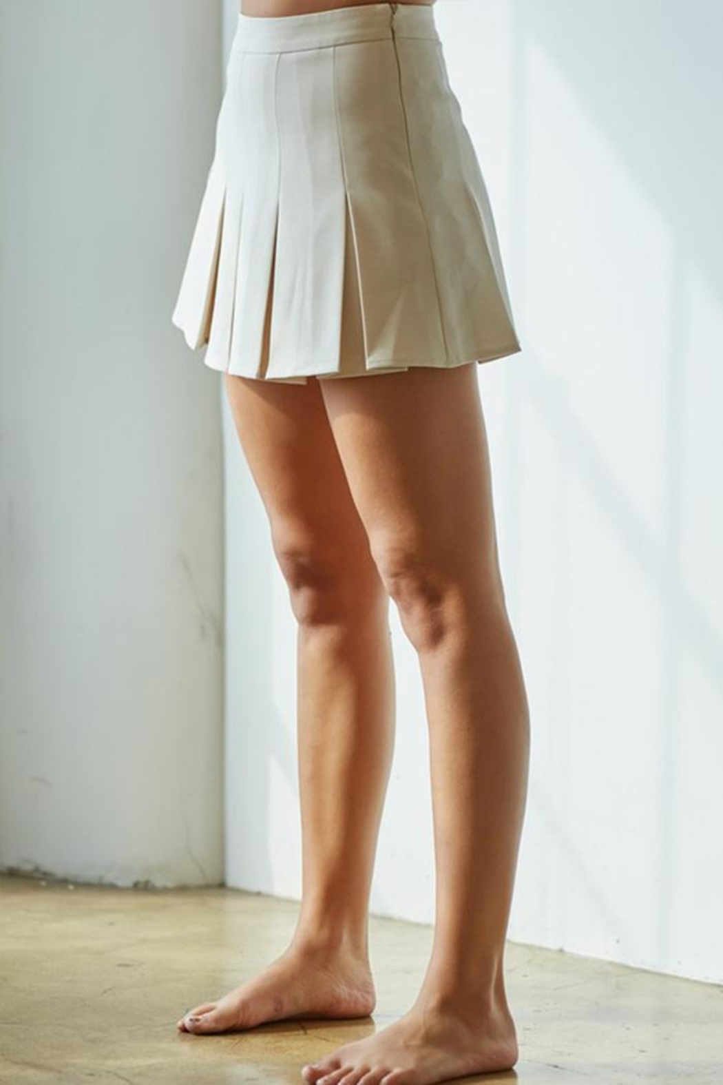 blue blush Pleated Tennis Skirt - Front Full Image
