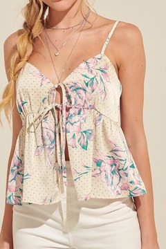 blue blush Print Two-Tie Top - Product List Image