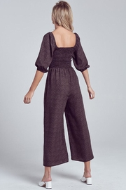 blue blush Puff Sleeve Jumpsuit - Back cropped