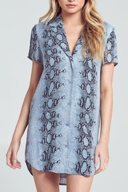 blue blush Python Shirt Dress - Product Mini Image