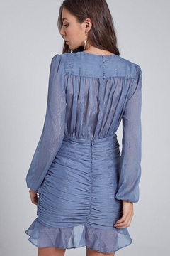 blue blush Ruffle Mini Dress - Alternate List Image