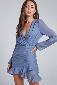 blue blush Ruffle Mini Dress - Product List Image
